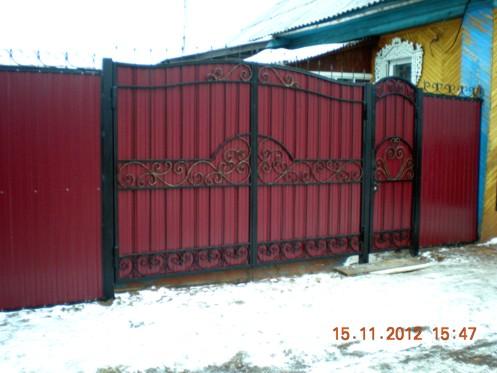 кованые ворота фото простые